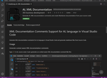 AL XML Documentation in Marketplace